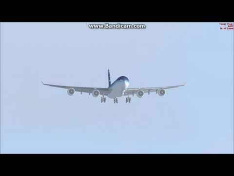 fsx landing A340-600 World Travel airlines