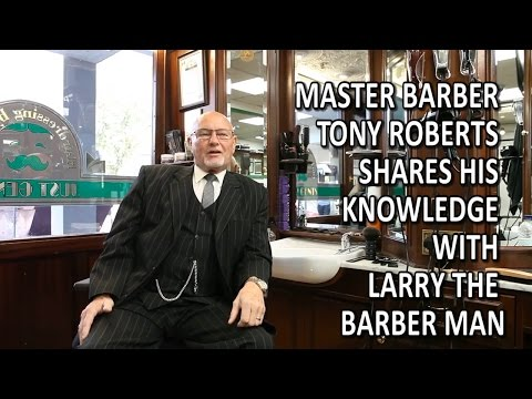 Master Barber Tony Roberts Shares His Knowledge With Larry The Barber Man