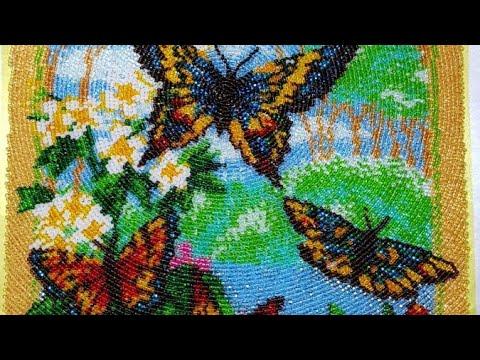 """вышивка бисером """"Порхающие бабочки"""" от фирмы Batterfly"""