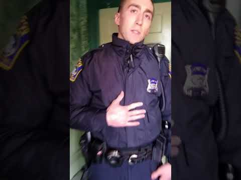 Boston Police officers aggressive interaction