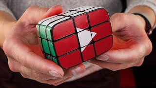 Making Rubik`s cube Youtube play button | 1,000,000 subscribers