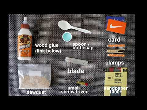 How to fix table tennis paddle