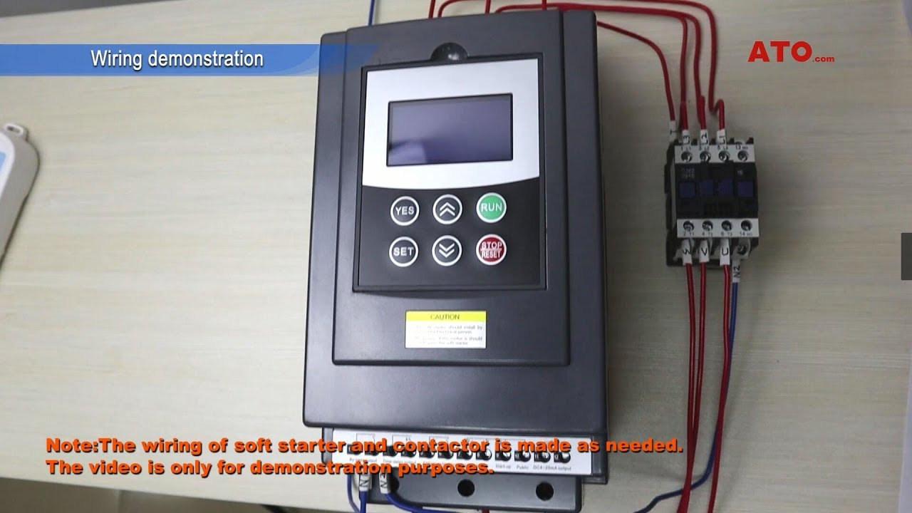 How to connect byp contactor to soft starter  Vfd Byp Contactor Wiring Diagram on