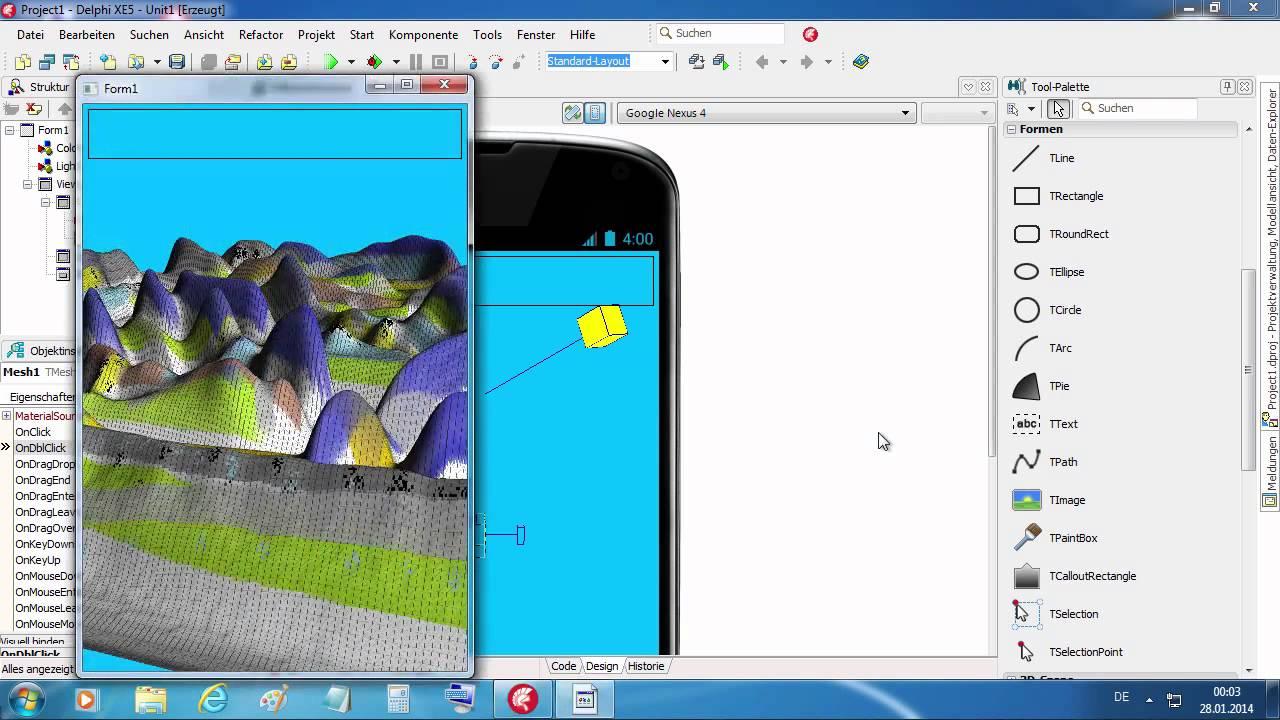 Tutorial: HeightMap in Firemonkey XE5 (Delphi XE5) - YouTube