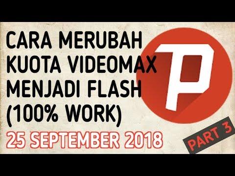 CARA MERUBAH KUOTA VIDEOMAX MENJADI KUOTA FLASH (100% WORK)