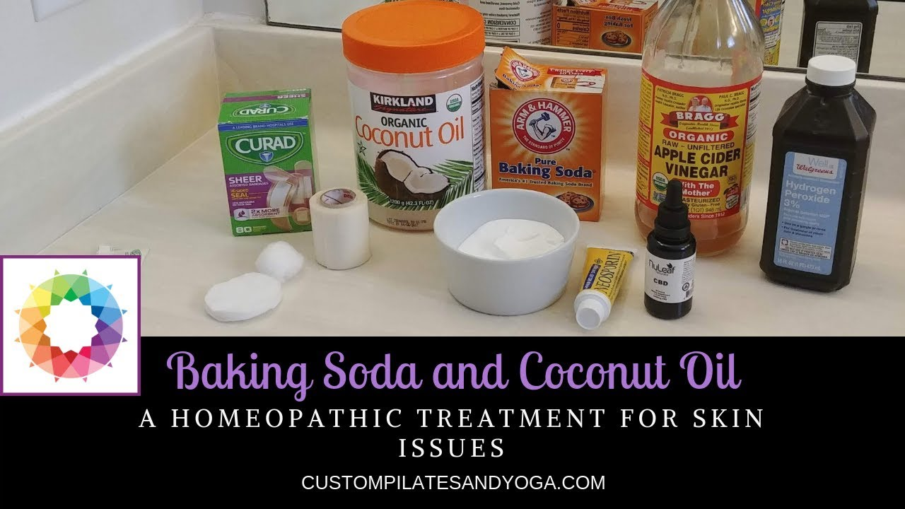 Baking Soda And Coconut Oil A Homeopathic Treatment For Skin Issues Youtube