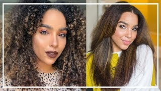 My Updated Curly to Straight Hair Routine!