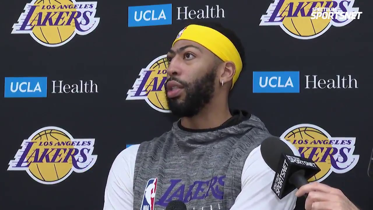 Anthony Davis gives an update on his injury and talks about his teammates stepping up in his absence