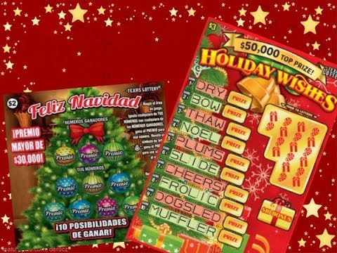 WIN!  $3 Holiday Wishes & $2 Feliz Navidad Texas Lottery Scratch Off Tickets