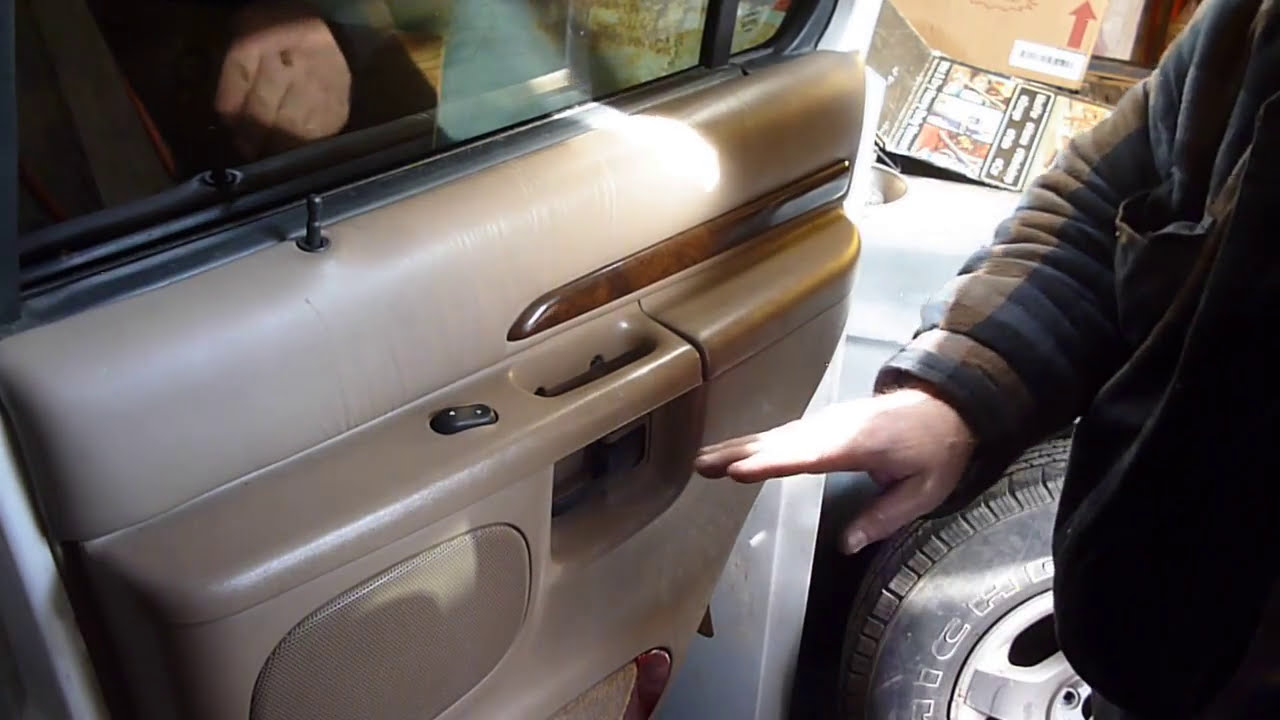 01 Ford Explorer Rear Door Panel Removal Another Door Problem Fixed Youtube