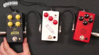 JHS pedals - Muffaletta, The Crayon and The AT (Andy Timmons) Demo
