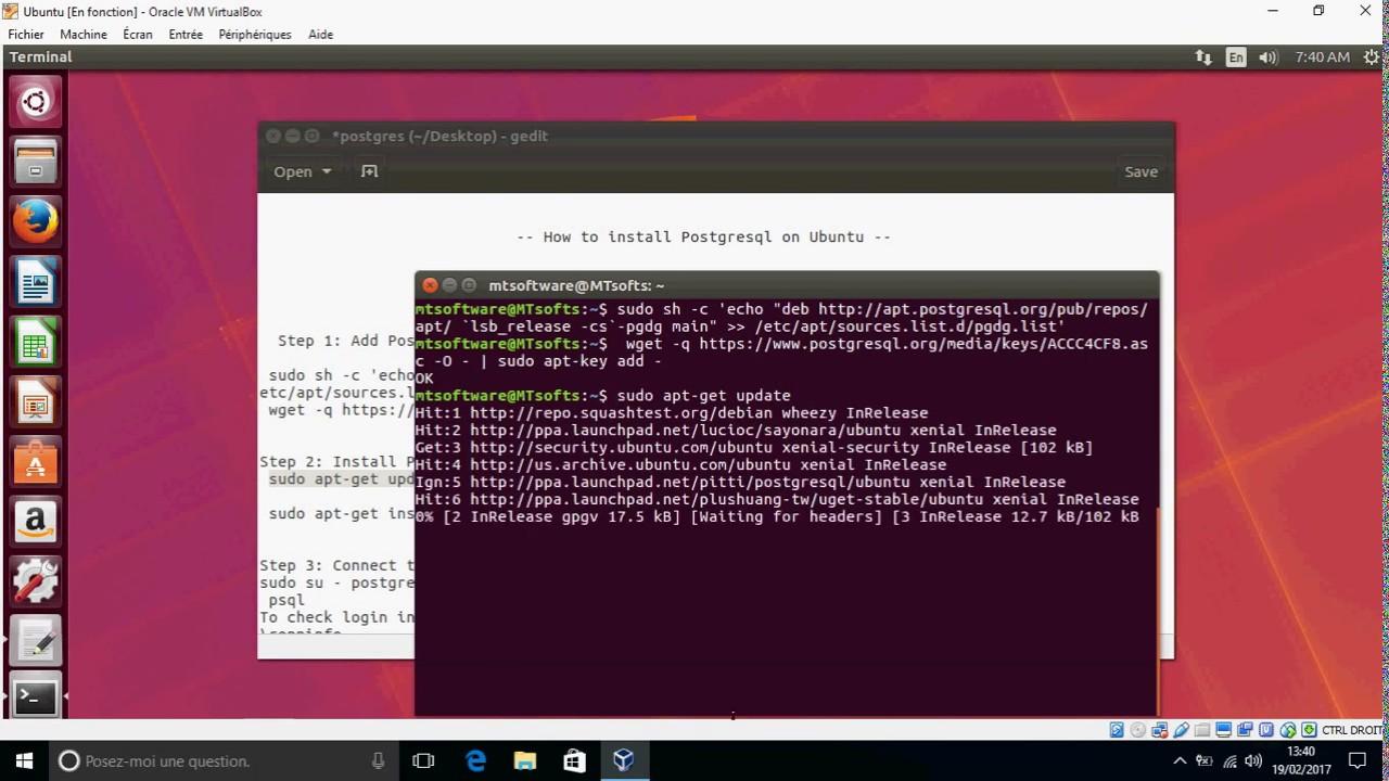 How to install Postgresql on Ubuntu 16 04 ,17 04