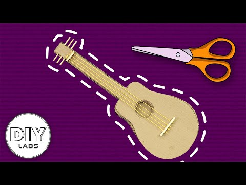 Guitar MUSIC INSTRUMENT Paper Craft | Fast-n-Easy | DIY Labs