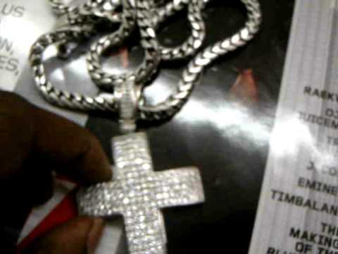 CUSTOM DIAMOND CROSS & FRANCO CHAIN