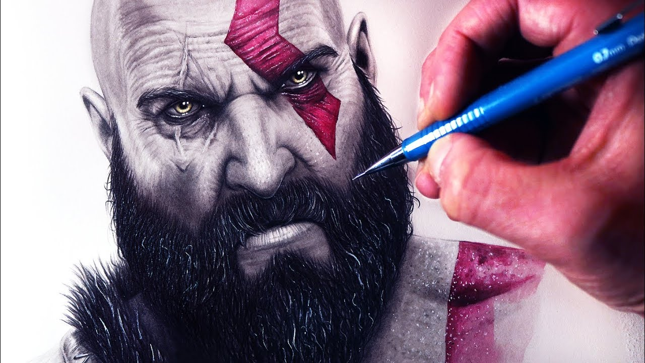 Let S Draw Kratos God Of War Fan Art Friday