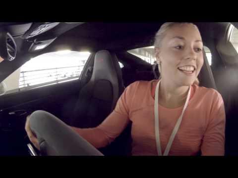 Parking Challenge with Carina Witthoeft - Porsche Tennis Grand Prix 2015