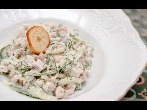 Салат.Рецепт салата минутка или гости на пороге.Кукуруза и фасоль.