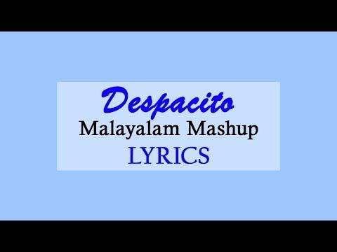 Despacito - Malayalam Mashup Lyrics | Farzee ft Safdar Hafiz, Aadhi De Karmans