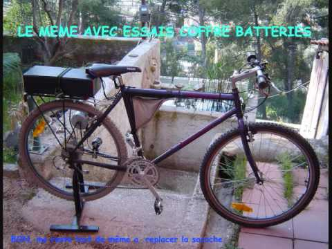 Montage Velo Vtt Assistance Electrique 24v Home Made Electric Bike Bicicleta Eletrica Youtube
