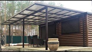 видео Веранда из поликарбоната, пристроенная к дому: подборка фото и инструкция по изготовлению своими руками
