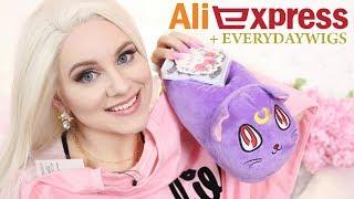 Zakupy z Aliexpress - Najsłodsze ubrania i gadżety Kawaii + peruka Everydaywigs * Candymona Haul