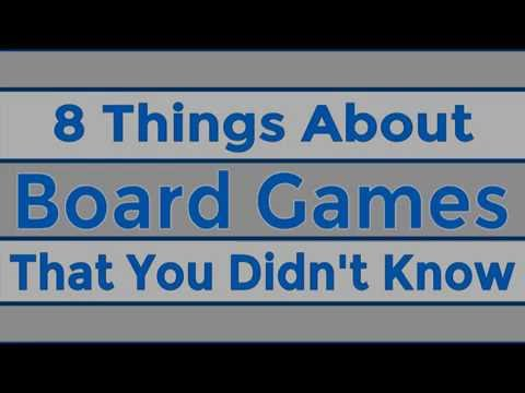 8 Things about Board Games That You Didn't Know