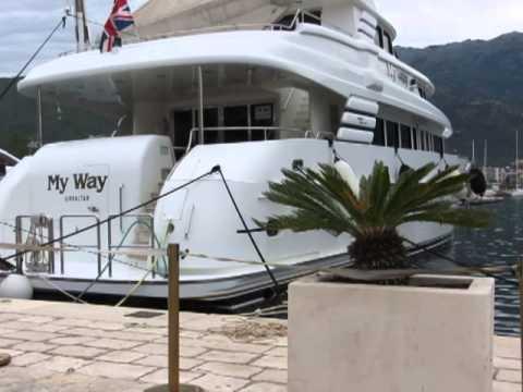 "video clip - zillion dollar yacht ""for sale"" - yacht harbor - BUDVA 5-16-13 - sidneysealine"