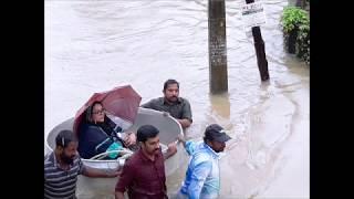 Actor Privitiraj mother Mallika Sukumaran being rescued from flood water