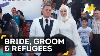 Turkish Bride & Groom Feed 4,000 Syrian Refugees On Their Wedding Day