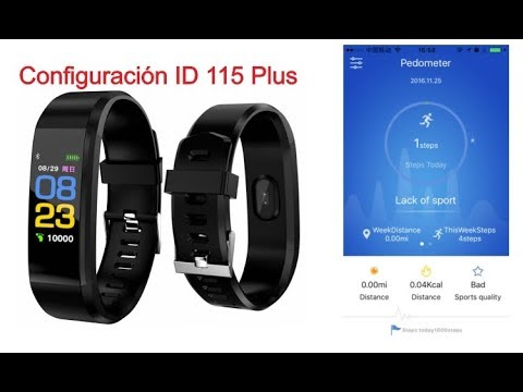Configuración Smartband ID 115 Plus Parte 1