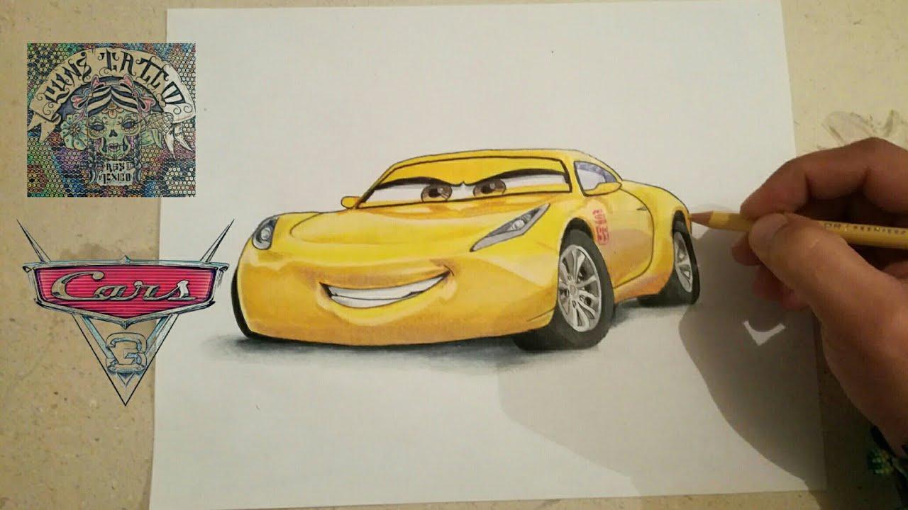 Como Dibujar A Cruz Ramirez Cars 3 How To Draw Cruz Ramirez