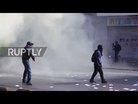 Chile: Water cannons drench May Day protesters as clashes mount in Santiago