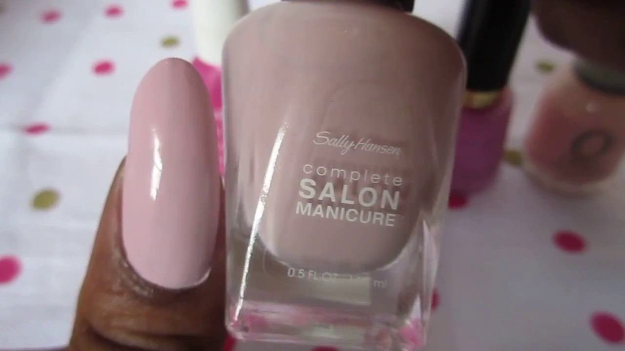 My Top Five Light Pink Nail Polish - YouTube