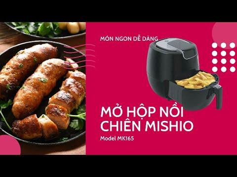Nồi chiên không dầu điện tử Mishio MK165 1800W 5.5L – Màu đen