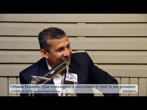Ollanta Humala: Que convoquen a elecciones y veré si me presento