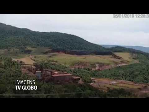 Vídeos mostram  instante do rompimento de barragem em Brumadinho