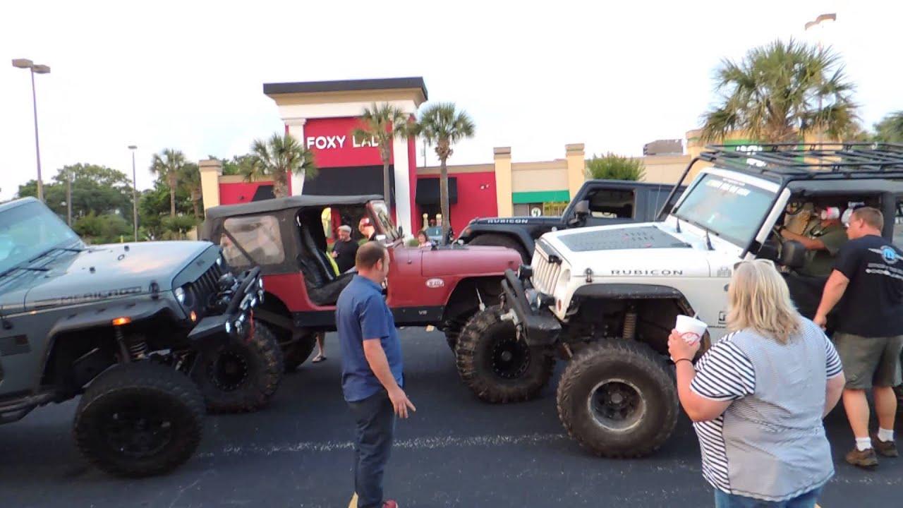 1st Myrtle Beach Jeep Week Flexing