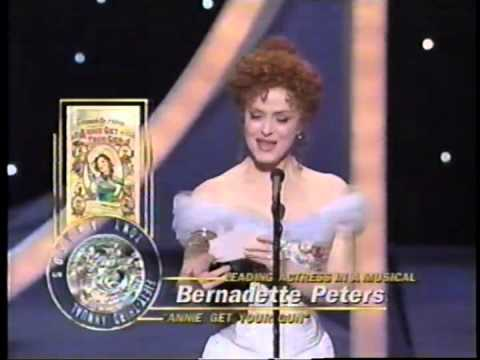 Bernadette Peters wins 1999 Tony Award for Best Actress in a Musical