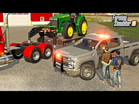 ROBBER CHASE- $300,000 WORTH OF TRACTORS STOLEN! (ROLEPLAY) | FARMING SIMULATOR 2019