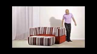 видео Купить бескаркасный диван. Диван-пуф в интернет-магазине «Надом Мебель»