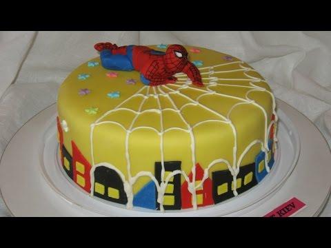 Торт Человек Паук.  Spider-Man.