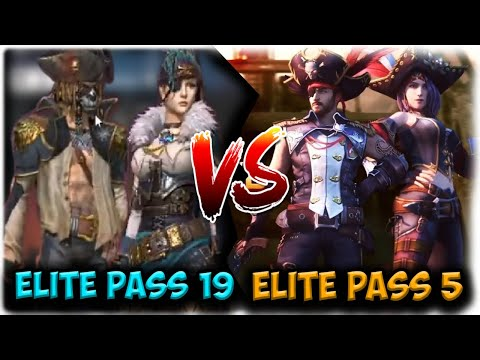 ELITE PASS 5 VS ELITE PASS 19-FREE FIRE