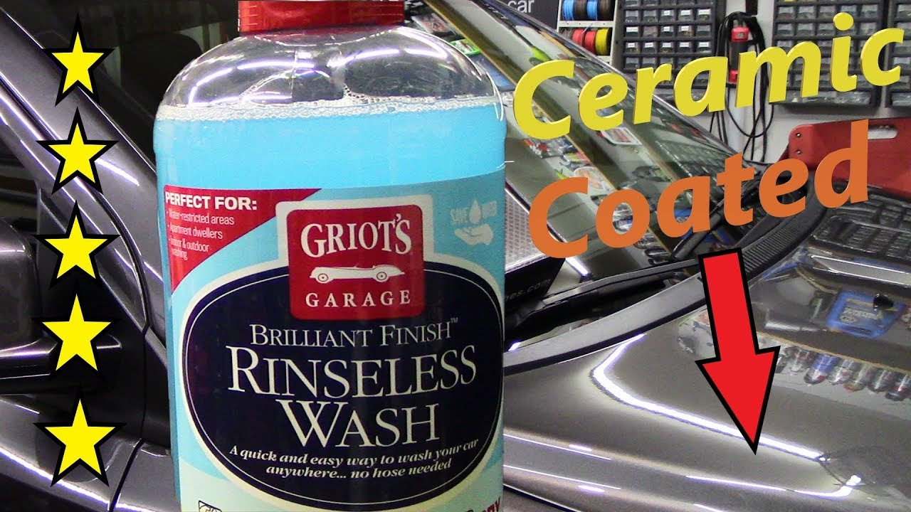 Griot S Garage Bf Rinseless Wash On A Ceramic Coated Vehicle Youtube