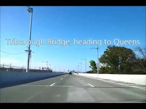 Triborough bridge drive to Queens