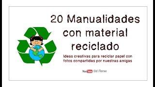 20 Manualidades con material reciclado, Ideas creativas para reciclar papel
