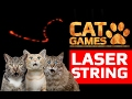 CAT GAMES - AMAZING LASER STRING (ENTERTAINMENT VIDEOS FOR CATS TO WATCH) 60FPS