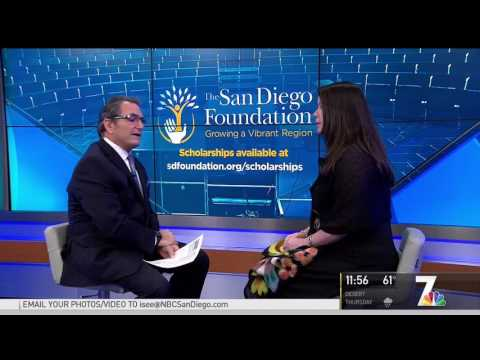 NBC 7 Covers The San Diego Foundation's Available Scholarships