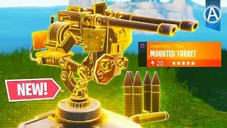 "NEW ""MOUNTED TURRET"" in Fortnite Battle Royale (Fortnite Content Update V6.30)"