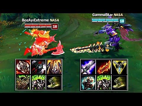 OLAF vs AATROX FULL BUILD FIGHTS & Best Moments!