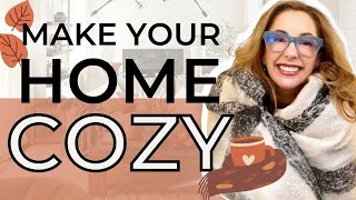 8 FAST & EASY TIPS TO COZY UP YOUR HOME (first time on YouTube)